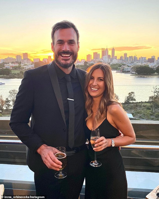 Cute! Locky Gilbert could not help but gush over his girlfriend Irena Srbinovska as they attended a charity event in Perth on Saturday evening. The pair shared Instagram posts from the evening. Both pictured