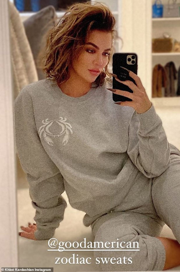 Take Away: Leggie was plugging a 36-year-old, Zodiac Sweatsuit from the brand Good American that she founded with Emma Grade