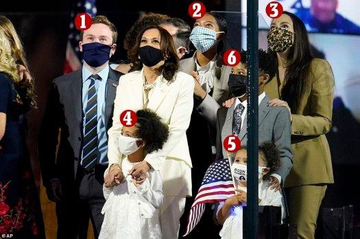 Five of Biden's grandkids and Kamala's step-children and ...