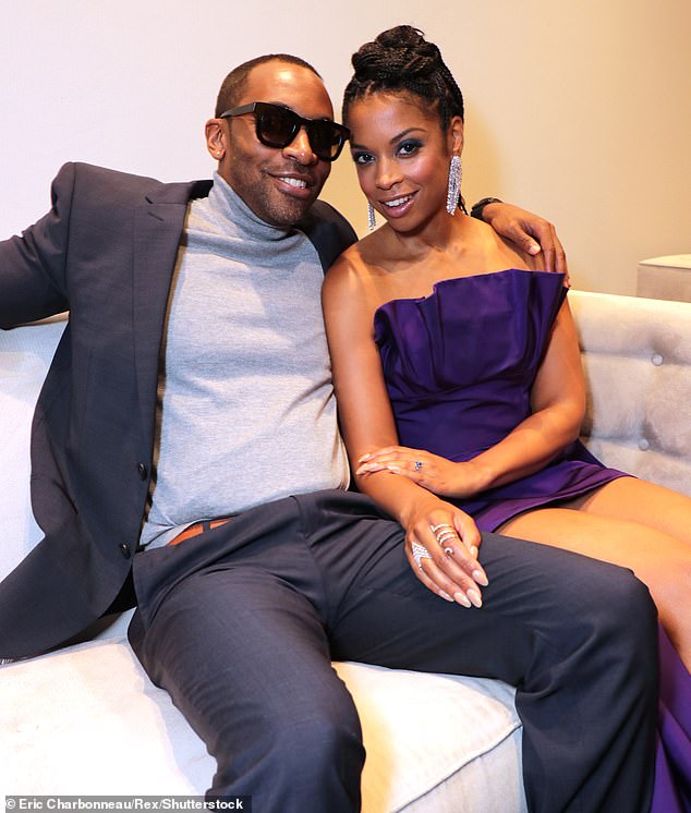 Broken engagement: Smith and the This Is Us star got engaged in September 2019, with her breaking the news on social media as she shared her sapphire engagement ring;  photo of September 7, 2019