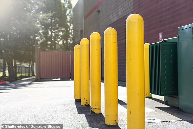 Victims of the parking scam have been forced to install removable bollards to prevent anyone from using their bays without permission