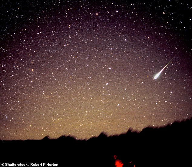 The event peaks overnight on November 16 through November 17 and has been known to carry some of the most intense meteor storms – some events have seen 50,000 meteors per hour (pictured is the shower in 1998)
