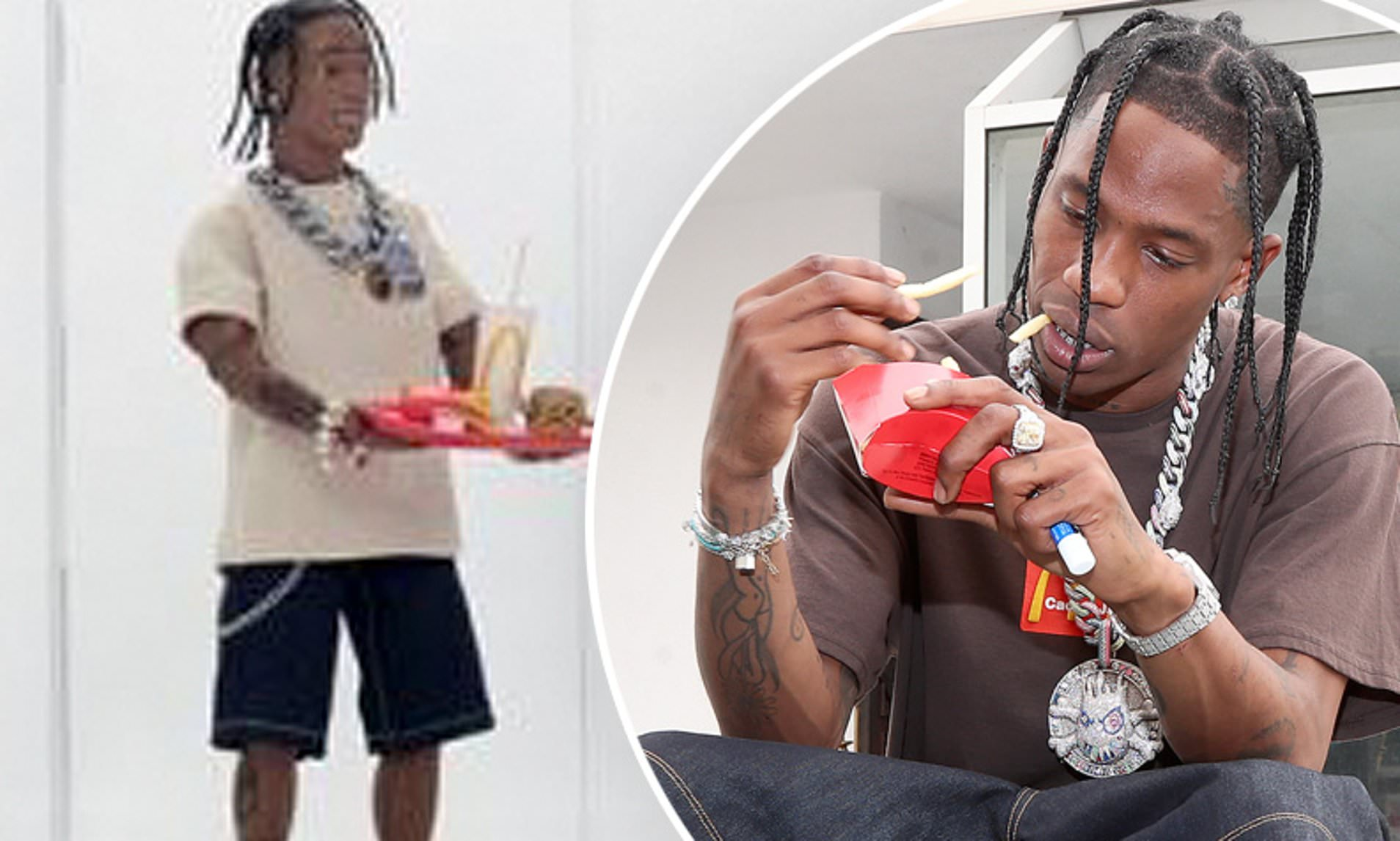 Travis Scott S Mcdonald S Action Figure Is Selling For A Whopping 55 000 On The Resale Market Daily Mail Online
