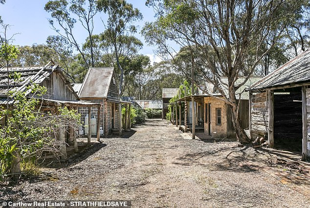 A Gold Rush-style village (pictured) in Maldon in central Victoria has been put on the market