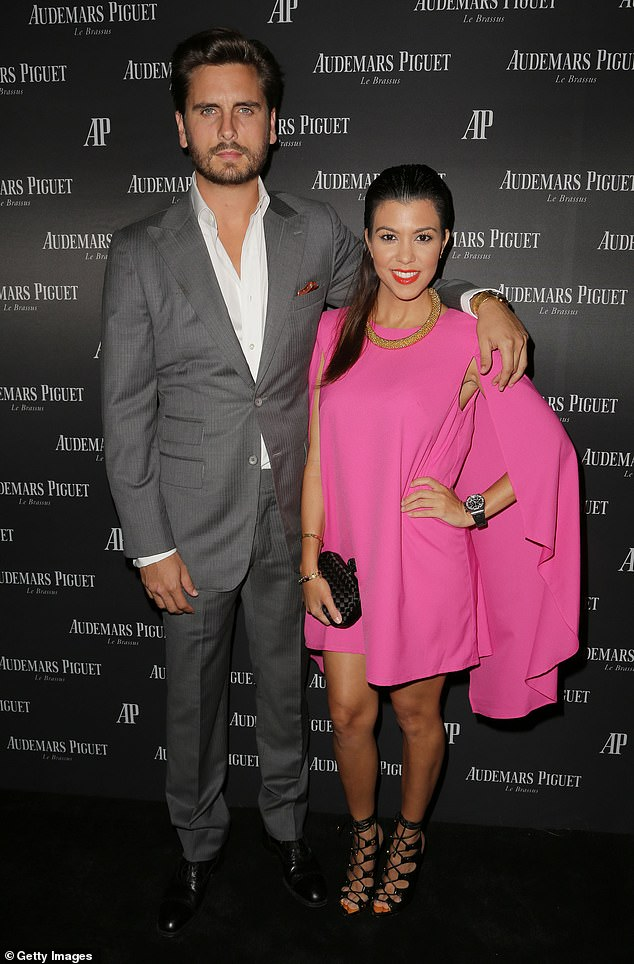 Old Times: Scott and Kourtney Kardashian were in a relationship from early 2005 to 2016, and they share three children: Mason, 10, Penelope, eight, and Reign, five;  photographed in 2013