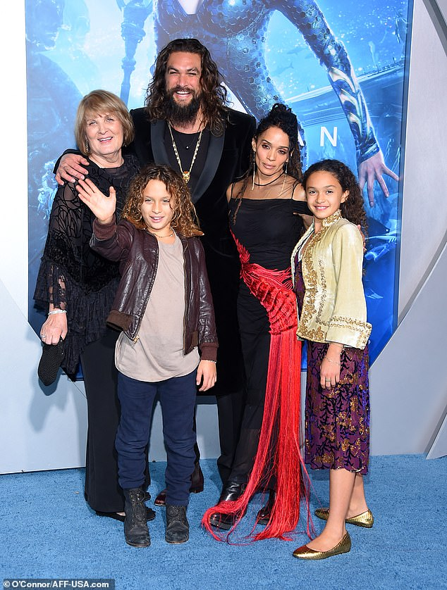 `` Just tried to improve myself as a father and husband '': Momoa also admitted to being `` absolutely terrified '' of his wife `` goddess '' Lisa Bonet (2-R) aka Lilakoi Moon, who is a foot shorter than him and 12 years his senior