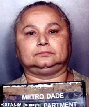 Griselda'sempire was making $80 million a month smuggling 3,400lb of cocaine for the Medellin cartel of her old friend Pablo Escobar at its height in the 1980s. She's pictured in a mugshot
