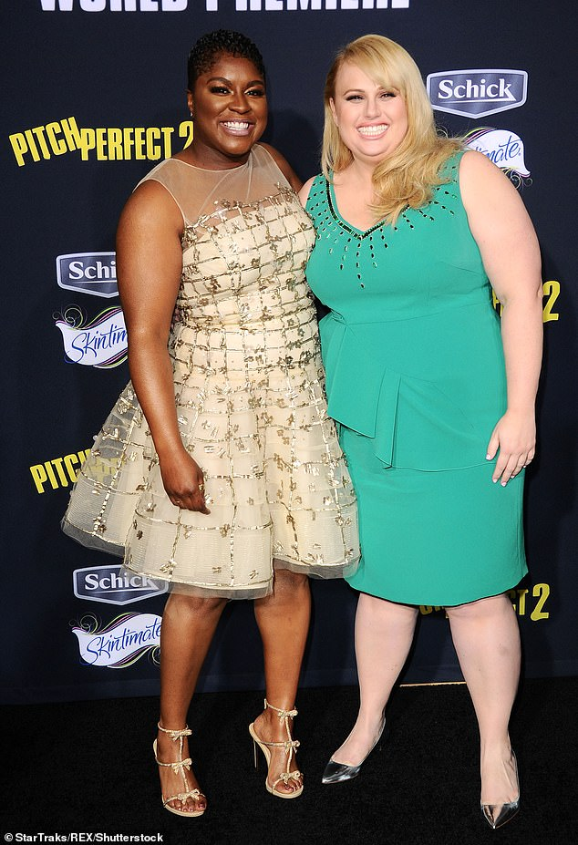 Actress: Ester appeared in the Pitch Perfect trilogy as Cynthia-Rose Adams. Pictured with Rebel Wilson in 2015