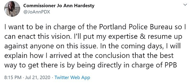 Hardesty calls for massive changes and $18million in cuts to Portland's police department