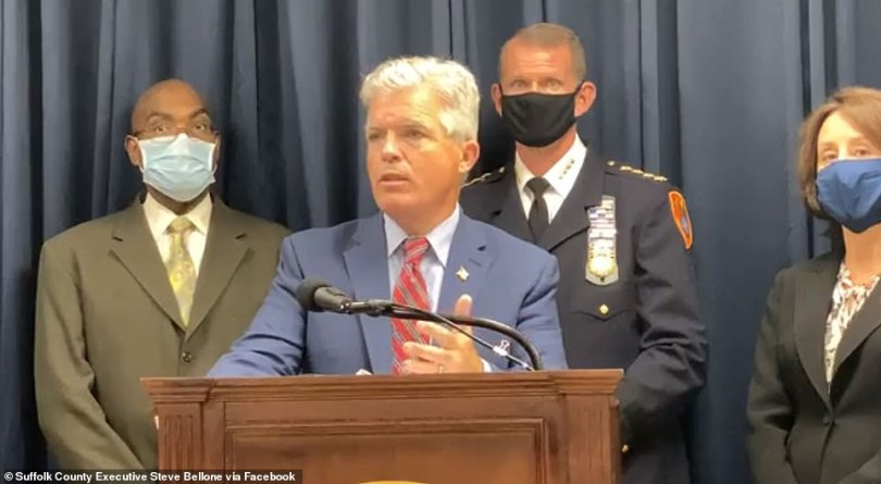 Suffolk County Executive Steve Bellone (pictured) last month announced the venue had been fined $17,000. He warned officials will be cracking down on homeowners who host large gatherings at their home