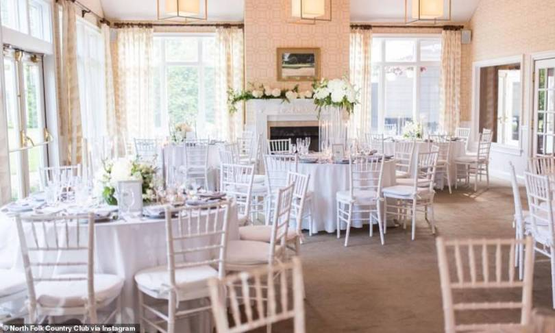Superspreader event: 113 people attended the wedding, exceeding the state's 50-person limit on gatherings. Pictured: Stock image of the venue