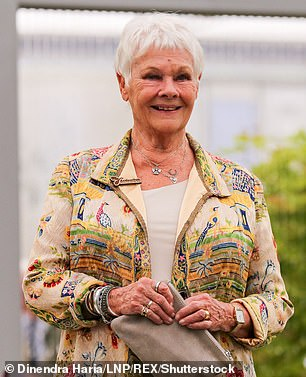 York Museum Trust has left its followers in stitches after launching a bizarre 'celebrities as objects in our collection'. Pictured: Dame Judi Dench visiting RHS Chelsea Flower Show in 2019
