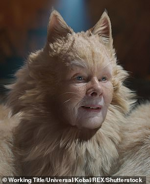 One of the most light-hearted comparisons involved that of Dench in animated movie Cats (pictured)