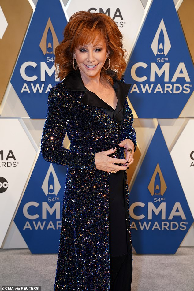 Reba McEntire coughed while on stage hosting the CMAs which lead to reactions on social media