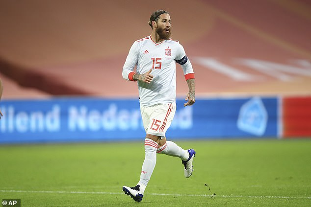 Sergio Ramos won his 176th Spain cap when he made a substitute appearance against Holland
