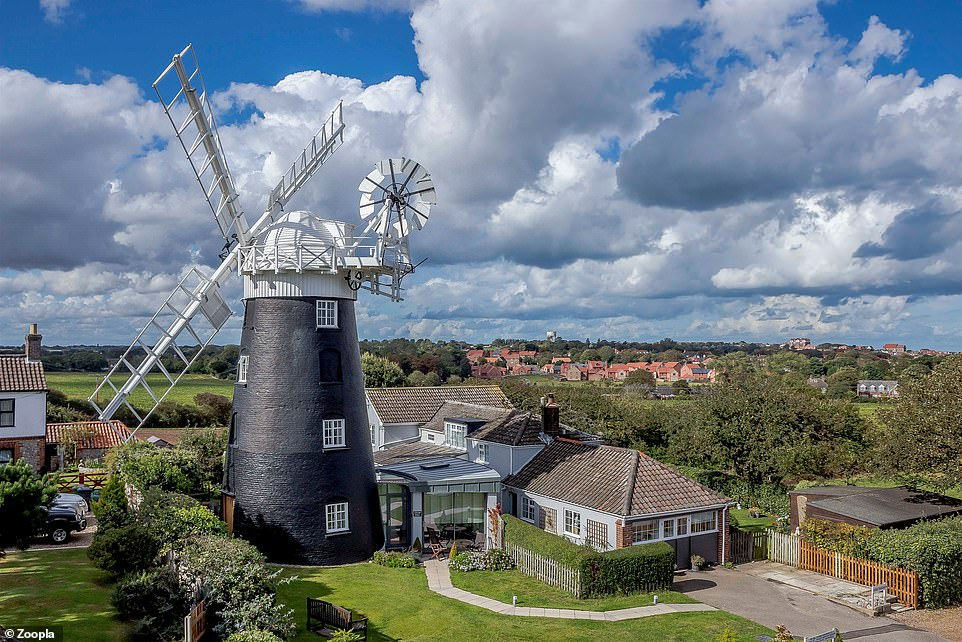 A mill for a mill: The mill and owner's cottage inPaston, North Walsham, is for sale for £1m viaestate agent William H Brown