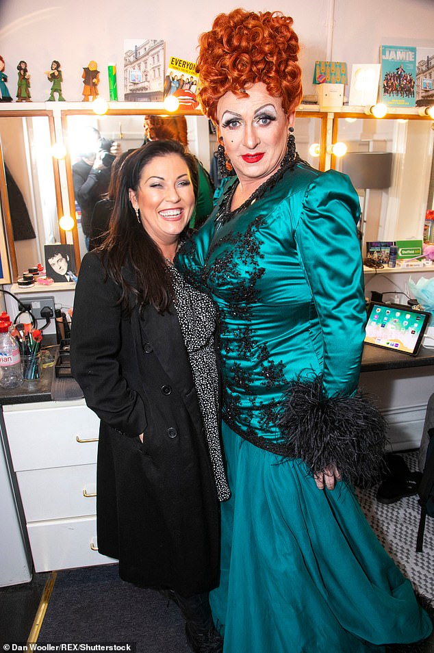 Standing out:The actor who had been playing drag queen Loco Chanelle in Everybody's Talking About Jamie, told MailOnline he's concerned he may not be able to fit into his costume