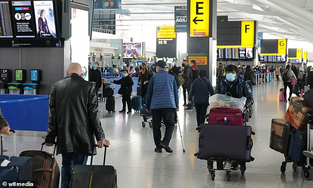 A new pilot project has raised hopes that a London-New York travel corridor will be approved as pressure grows on the government to reopen the busy trade route. Heathrow Airport is pictured above