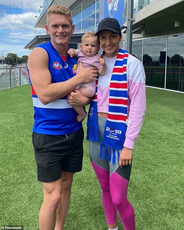 AFL star Adam Treloar's netball player wife Kim Ravaillion has broken her silence on his acrimonious departure from Collingwood