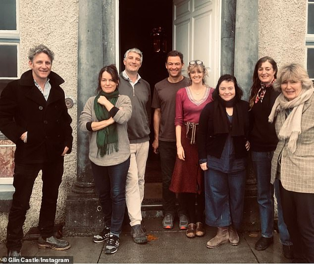 Historic: Catherine and West spend holidays at Glin Castle (pictured centre) where they run the historic castle that's been in her family as an events venue to cover the £150,000-a-year running costs