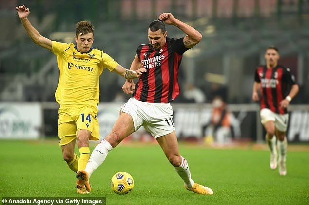 Zlatan Ibrahimovic (right) has scored 20 in just 29 games for AC Milan despite being aged 39