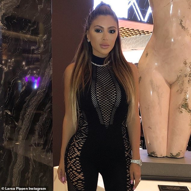 Sick:Larsa Pippen has found her way back into the headlines after a brutal feud with her ex-friend Kim Kardashian and revealed that she's been 'battling COVID' in an Instagram Story on Thursday