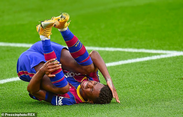 Fati came out injured at halftime in Barcelona's 5-2 LaLiga win over Real Betis