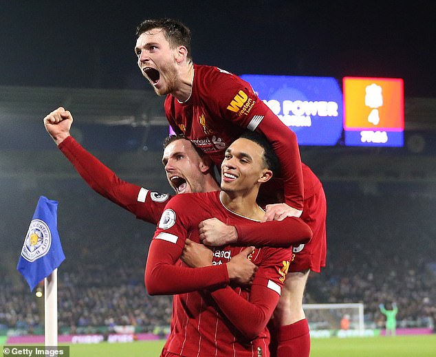 The posts came from people like Trent Alexander-Arnold (right) and Jordan Henderson (left)