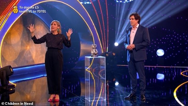 Children In Need 2020: Mel Giedroyc s'est excusé après avoir interrompu le gagnant de la collecte de fonds Brian Pitt en raison de problèmes de son lors de l'émission de vendredi à la suite de la réaction des fans
