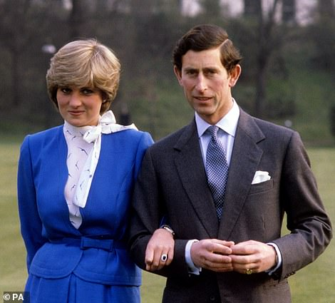Romantic: At the time the couples' relationship was viewed as the 'perfect fairytale' (Charles and Diana are pictured following their engagement in 1981)