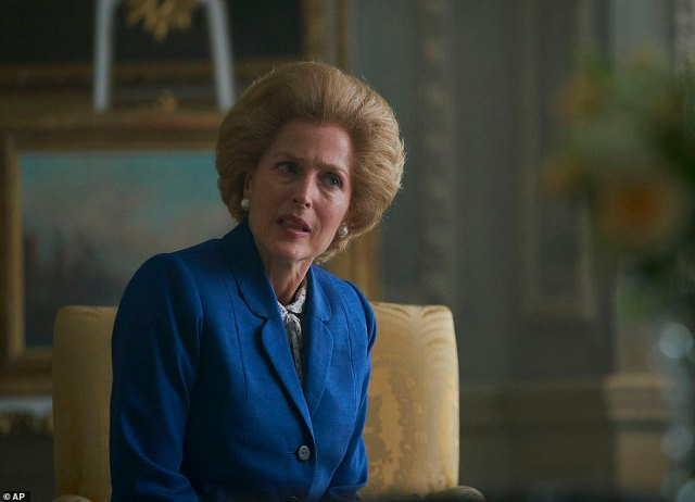 Political icon:Margaret Thatcher proved to be one of the most divisive Prime Ministers the UK has ever known, facing backlash from Labour supporters (pictured played by Gillian Anderson in The Crown)