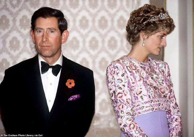 A picture tells a thousand words:It wasn't a surprise to many as during a tour of South Korea the husband and wife seemed to be worlds apart, and their split in 1992 proved to be a huge turning point for the Royal Family