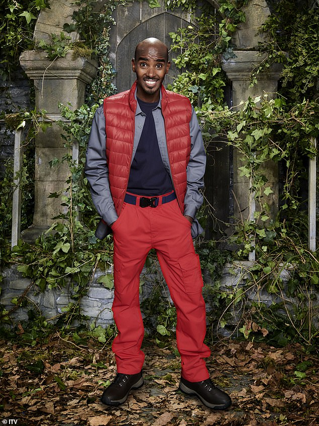 EXCLUSIVE:I'm A Celebrity campmates are thought to have been doing their first challenge in the Welsh mountains, MailOnline can exclusively reveal (Mo Farah pictured)