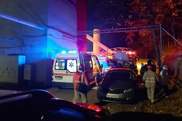 At least ten people have died and seven are critically injured after a fire broke out at a hospital treating Covid-19 patients in Romania. Pictured: The hospital in Piatra Neamt