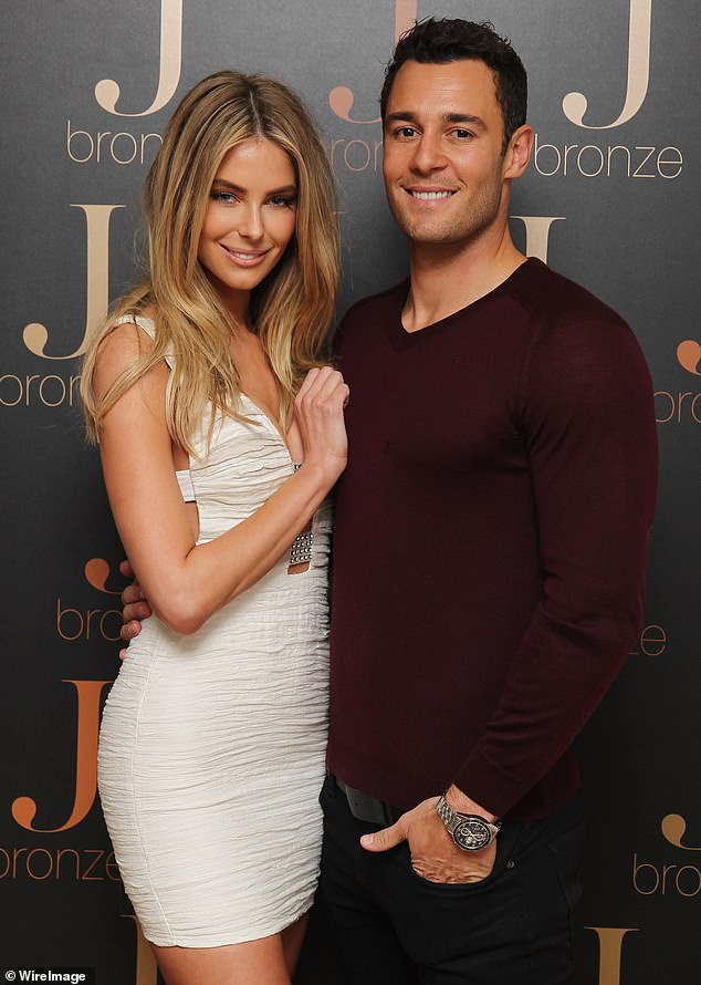 Building their future! Jennifer Hawkins, 36, (left) and her builder husband Jake Wall, 37, (right) have reportedly lodged renovation plans for their new $6.9million beach house