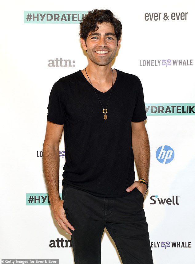 On screen: Adrian Grenier's [pictured in 2019] role in the HBO drama Entourage saw his character Vincent Chase hit the big time with a lead role in the DC flick, Aquaman