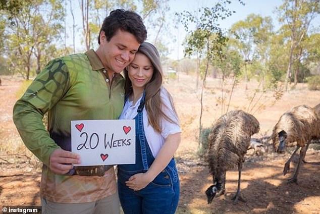 Not long to go now! Last week Bindi celebrated reaching the 20-week mark in her pregnancy