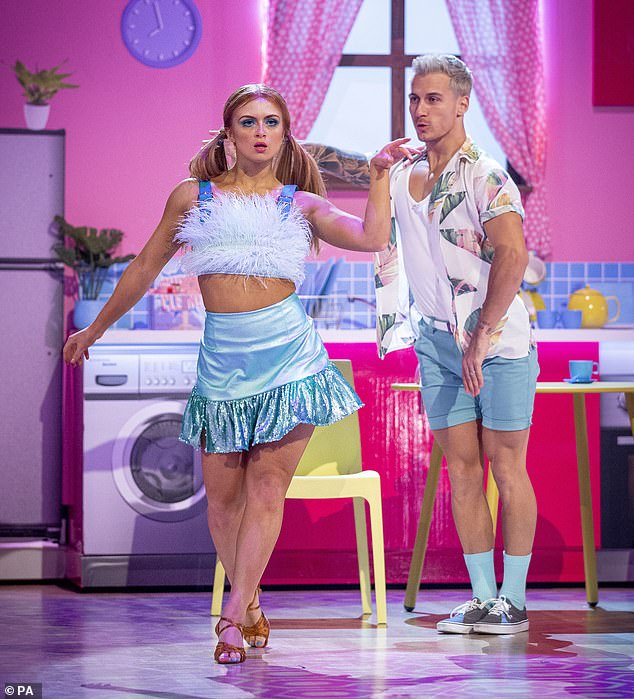 They added: 'Bosses have slapped a party ban on the youngsters and reminded them they are there for the show and nothing else' (Maisie pictured with Gorka Marquez)