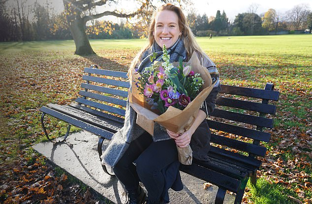 Jenny Webster, 30, (pictured) set up the Cirencester Kindness Project after her sister Claire, a surgeon at Queen Mary's Hospital in South-West London, came upon a bunch of flowers in the street