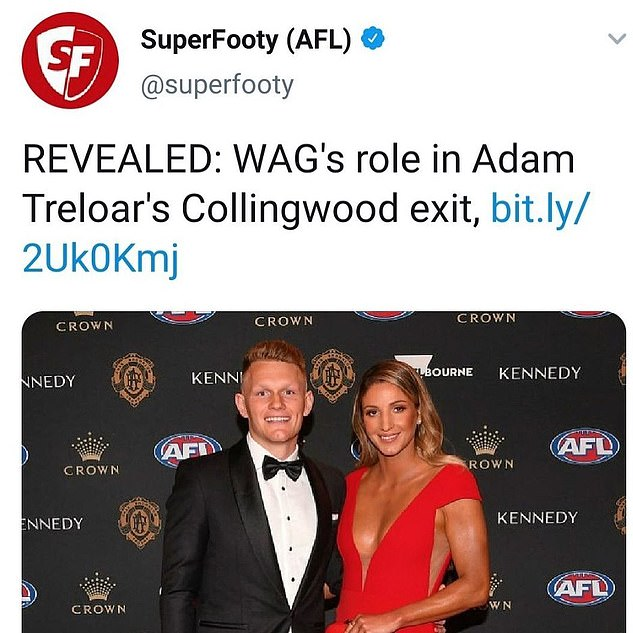 The Swifts took aim at a Melbourne newspaper over this social media post describing the netballer as a WAG