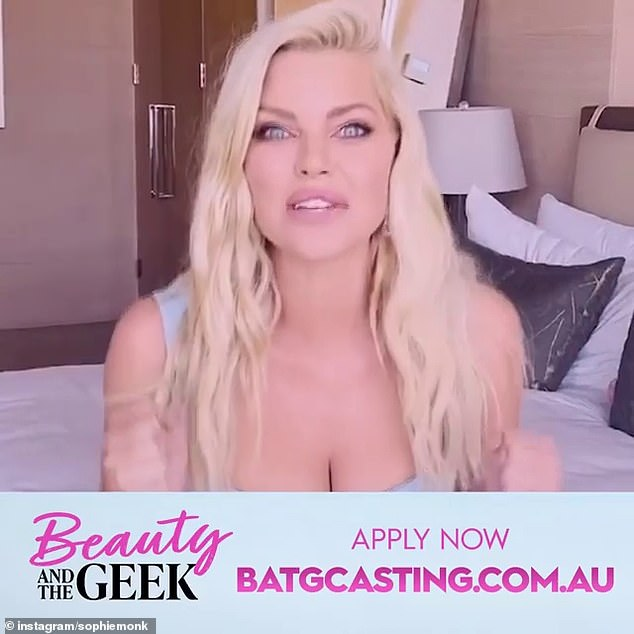 Getting excited! 'I'm so excited to be hosting Beauty and the Geek, one of my favourite shows,' the former Bachelorette told fans in an Instagram video uploaded on Sunday.