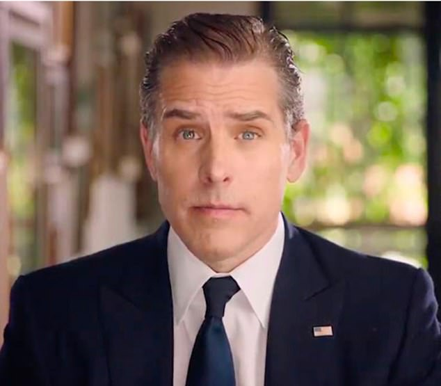 Hunter Biden, Joe Biden's only surviving son, a self-professed ex-cocaine and alcohol addict whose abandoned laptop containing top secret White House information almost derailed his father's presidential bid