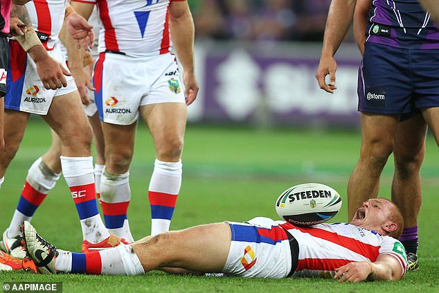 McKinnon became a quadriplegic after a horror tackle in a game six years ago (pictured)