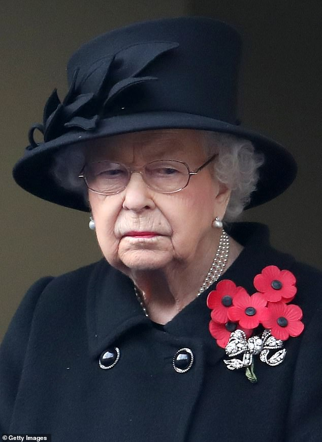 The Queen (pictured at The Cenotaph on November 8) has appointed Major Tom White as her new equerry and he becomes the first commando to ever hold the position within the royal household