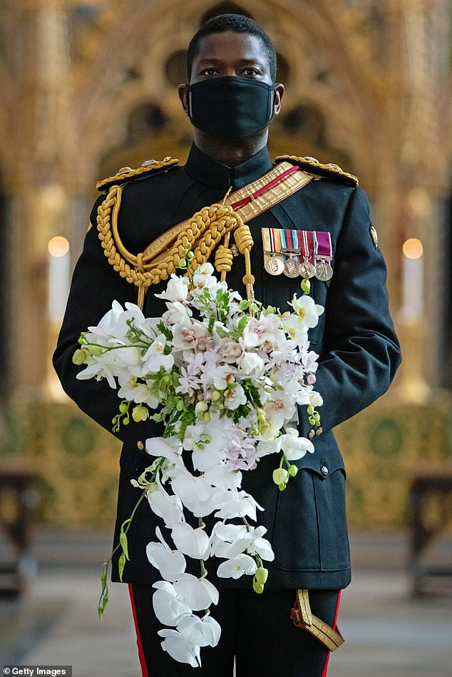Major White follows in the historical footsteps ofLieutenant Colonel Nana Kofi Twumasi-Ankrah (pictured), the Queen's current equerry, who was the first black person to ever hold the position
