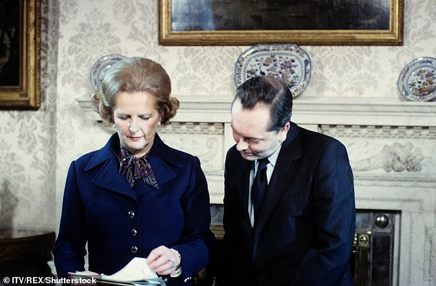 Background: Baroness Thatcher (pictured with Brian Walden in 1979),who led the country from 1979 until 1990, passed away in April 2013 after suffering a stroke aged 87