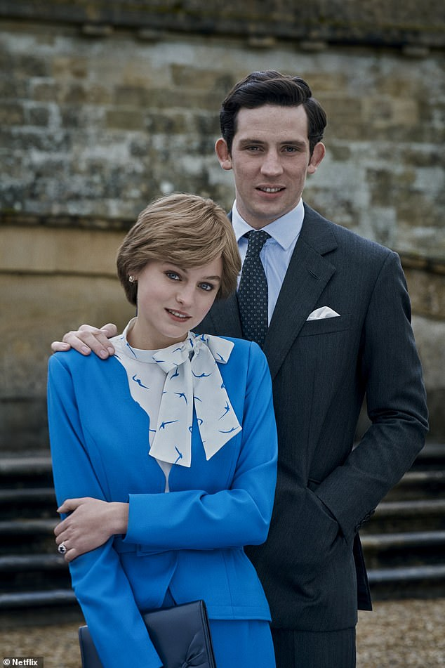 Impressive: The English rose transforms into Diana alongside Prince Charles actor Josh O'Connor in the new series