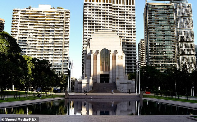 Security allegedly saw the 25-year-old man urinate on the wall of the ANZAC War Memorial in Hyde Park about 12.50am on Sunday, police said