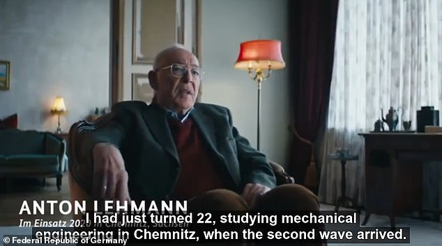 The short clip posted by the government begins with an elderly man recalling the arrival of the second coronavirus wave while he was a student 'when the whole country's eyes were on us'