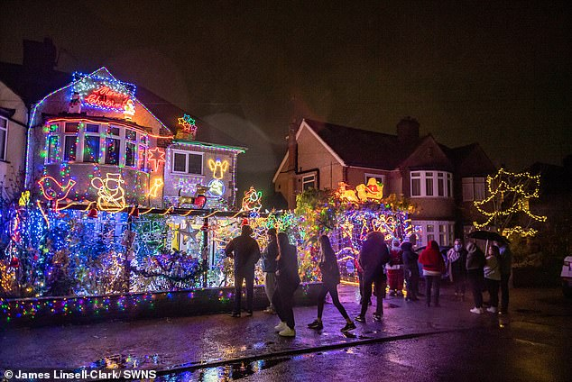 The switch on event had become a tradition for the people ofCroxley Green, as hundreds would gather every year to watch it